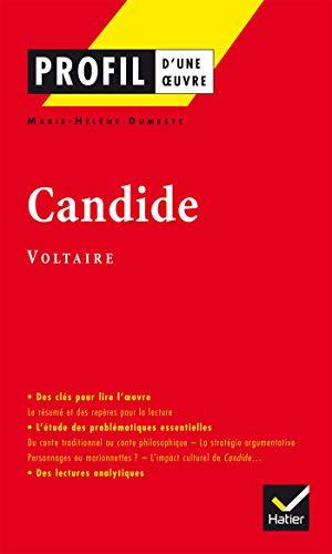 9782218737459: Profil d'une oeuvre : Candide ou l'optimisme, Voltaire