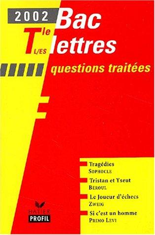 9782218737725: La Tragédie racinienne : Lettres Terminales L, S et ES