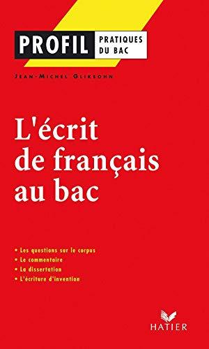 9782218739408: L'écrit de français au bac