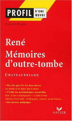 9782218739491: Profil D'Une Oeuvre: Chateaubriand (French Edition)