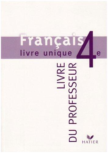 9782218739583 Francais 4eme Livre Unique Livre Du