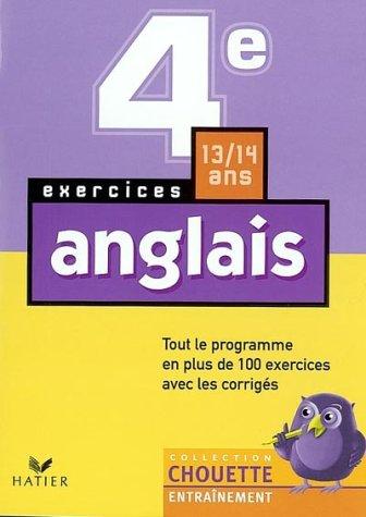9782218739958: Chouette Entraînement : Anglais, 4e - 13-14 ans (+ corrigés)