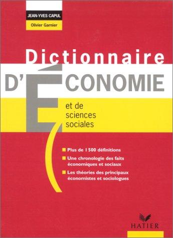 9782218740596: Dictionnaire d'économie et de sciences sociales
