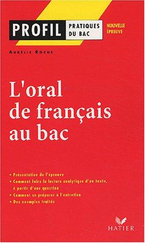 9782218743979: Profil d'une oeuvre: Oral de Francais Bac
