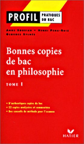 9782218743986: Profile, tome 1 : Bonne copies de bac en philosophie