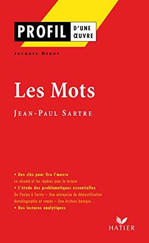 9782218750915: Les Mots (Profil d'une oeuvre)
