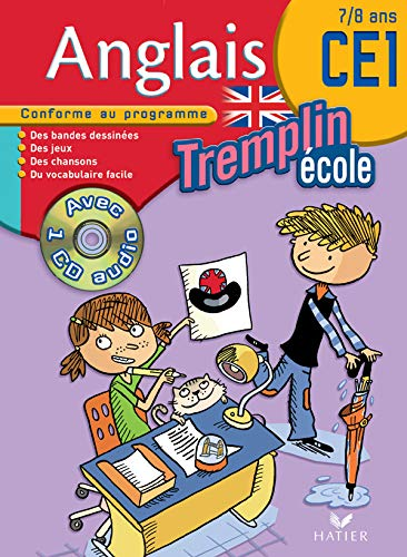9782218923593: Tremplin Anglais Ecole CE1 : 7/8 Ans (1CD audio)