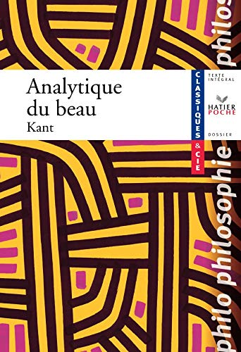 9782218927065: Analytique Du Beau (French Edition)