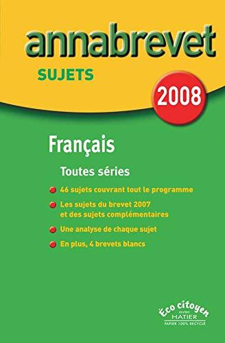 9782218927591: Fran�ais Brevet s�ries g�n�rale, technologique et professionnelle : Sujets
