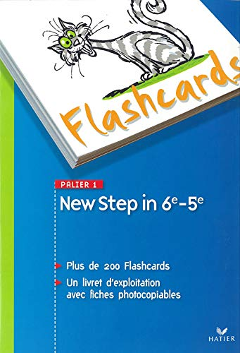 9782218927997: New Step in - Anglais 6e/5e Palier 1 A1+ / A2, Flashcards (French Edition)