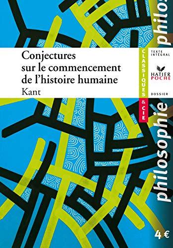 Conjectures Sur Le Commencement De L'Histoire Humaine (9782218931871) by [???]