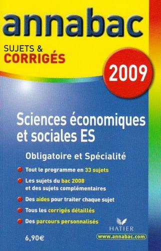 9782218932533: Sciences �conomiques et sociales ES : Sujets et corrig�s