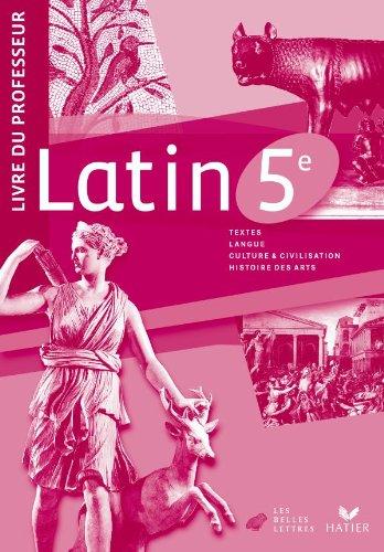 9782218938092: Latin 5e �d. 2010 - Livre du professeur