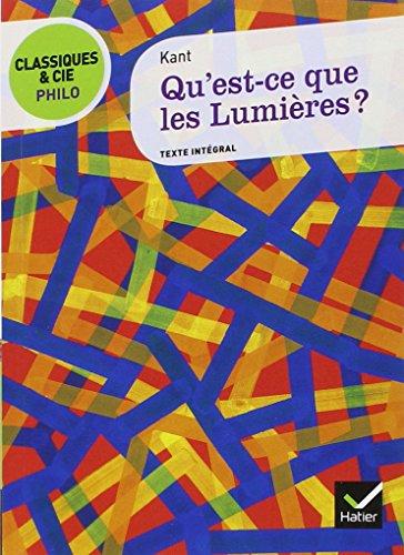 Qu'est-ce que Les Lumieres? (9782218939587) by [???]