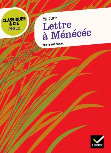 9782218939600: Lettre a Menecee (French Edition)