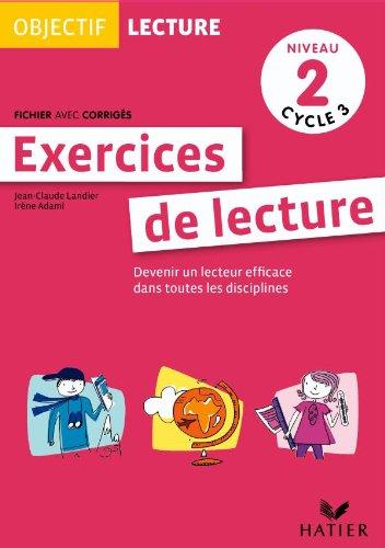 9782218944000: Objectif Lecture - Exercices de lecture, fichier avec corrig�s Niveau 2 Cycle 3