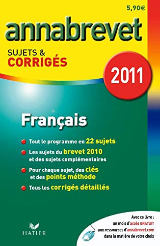 9782218945434: Français série générale, technologique et professionnelle : Sujets et corrigés 2011