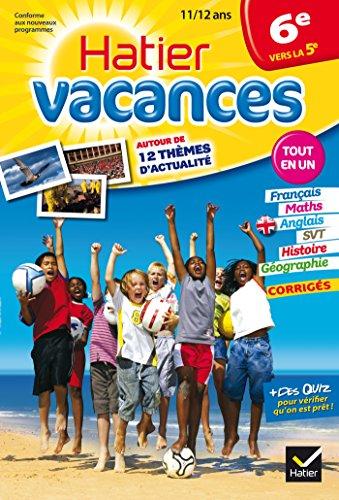 9782218949456: Cahier de vacances de la 6e vers la 5e - Hatier Vacances: Révisions toutes matières