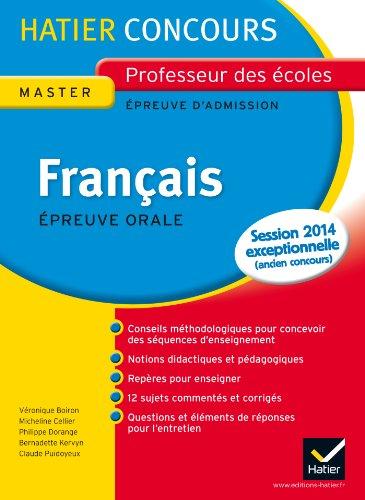 9782218952753: Français épreuve orale d'admission : Exposé et entretien