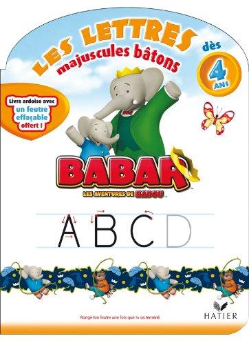 9782218953064: Babar - Les lettres majuscules b�tons d�s 4 ans
