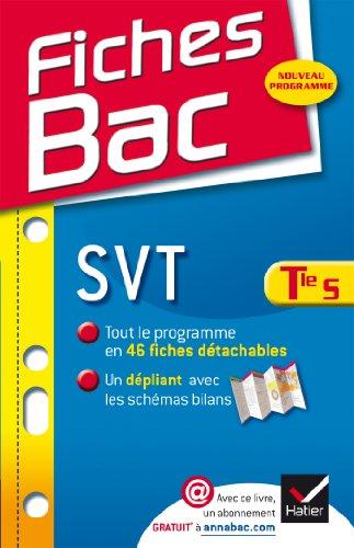 9782218962332: Fiches Bac SVT Tle S: Fiches de cours - Terminale S