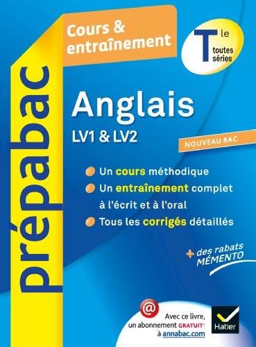 9782218962479: Anglais Tle - Prépabac Cours & entraînement: Cours, méthodes et exercices - Terminale