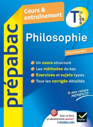 Philosophie Cours Terminale ET Entrainement 9782218962523 Prepabac 7Z6qIZg