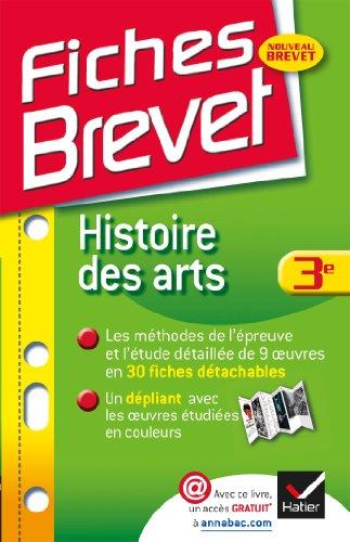 9782218968815: Fiches Brevet Histoire des arts 3e: Fiches de cours - Troisi�me