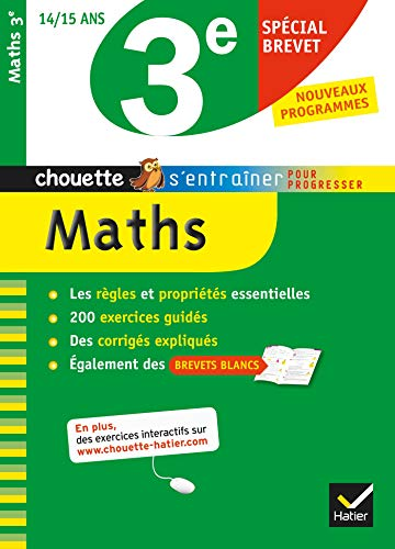 9782218969799: Maths 3e sp�cial brevet - Chouette: Cahier de r�vision et d'entra�nement