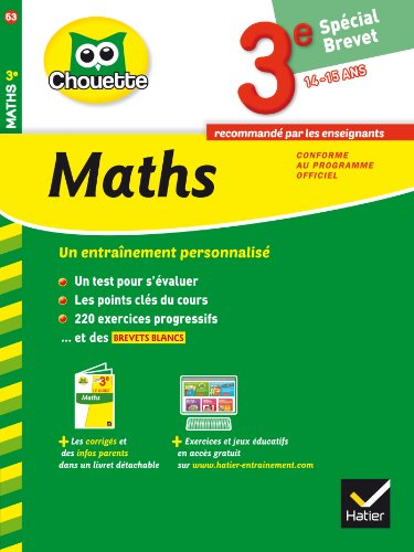 9782218969836: Maths 3e Spécial brevet: cahier de révision et d'entraînement