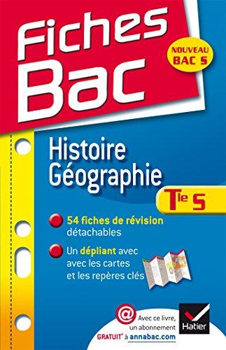 9782218981555: Fiches Bac Histoire-Géographie Tle S: fiches de cours - Terminale S