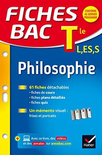 9782218986079: Fiches bac Philosophie Tle L, ES, S: fiches de révision - Terminale séries générales