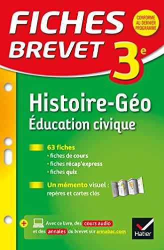 9782218988905: Fiches Brevet Histoire-Géographie Éducation civique 3e: fiches de révision