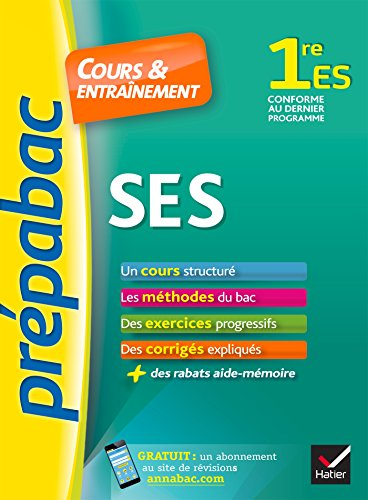 9782218995361: Prépabac SES 1re ES: cours, méthodes et exercices progressifs (première ES)