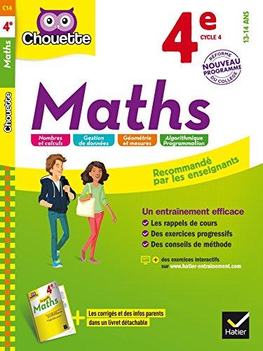 9782218997761: Maths 4e: cahier d'entraînement et de révision (Chouette Entraînement)