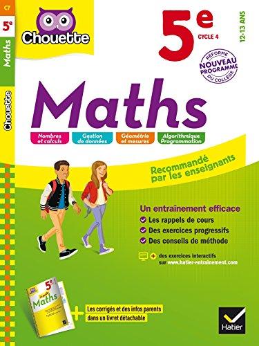9782218997778: Maths 5e: cahier d'entraînement et de révision (Chouette Entraînement)