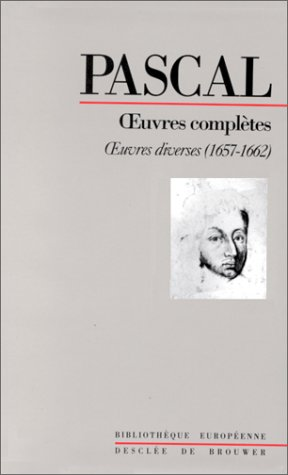 9782220032177: OEUVRES COMPLETES DE PASCAL. Tome 4