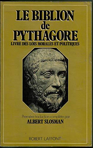 9782221005439: Le Biblion de Pythagore