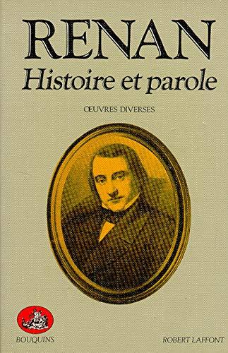 9782221012505: Renan : Histoire et parole