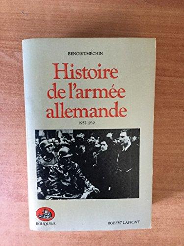 9782221045381: Histoire de l'armée allemande, 1937-1939