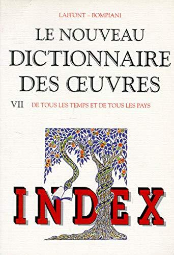 Index du Nouveau Dictionnaire des oeuvres de: Robert Laffont; Valentino
