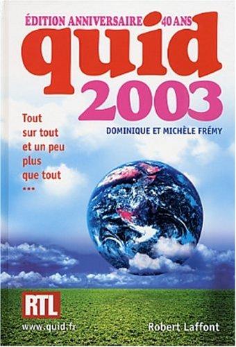 9782221097588: Quid 2003