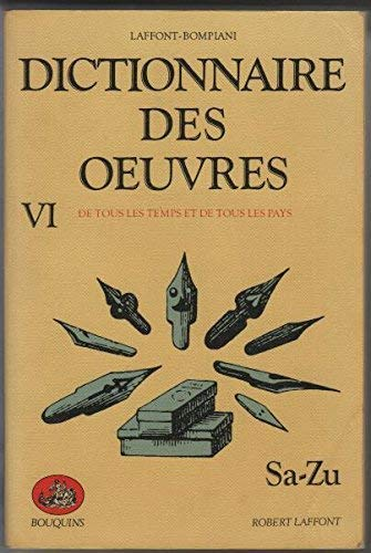 Dictionnaire des oeuvres tome 6: Bompiani Robert Laffont