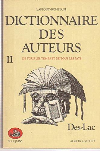 Dictionnaire des auteurs de tous les temps: Laffont Robert, Bompiani