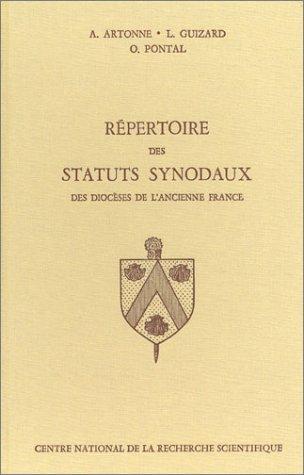 Répertoire des statuts synodaux des diocèses de l'ancienne France, du XIIIe Ã: la fin du XVIIIe siècle (2222011612) by Gabriel Le Bras