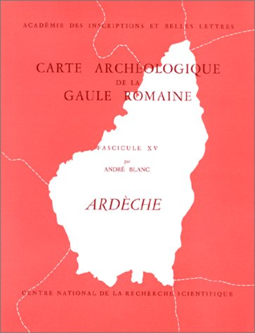 9782222016960: Carte Archéologique de la Gaule Romaine