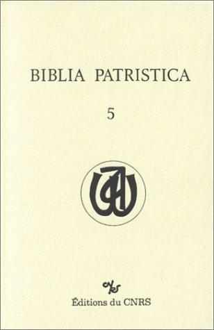 9782222045915: Biblia patristica -05