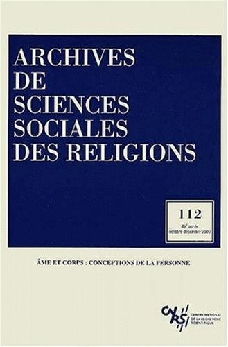 Archives de sciences sociales des religions 112 (French Edition): Collectif