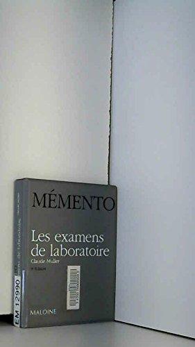 9782224021399: Memento Examens Labo 9ed