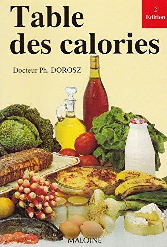 Table des calories: n/a
